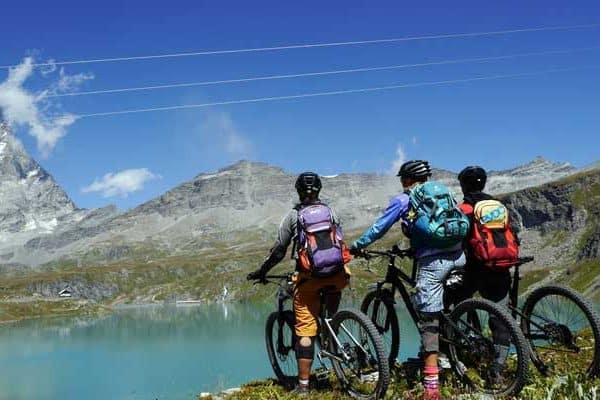 Mountainbike Fahrtechnik TrailCampin Latsch und Aosta